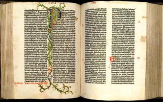 La primera Biblia impresa, de Gutenberg, ya está online